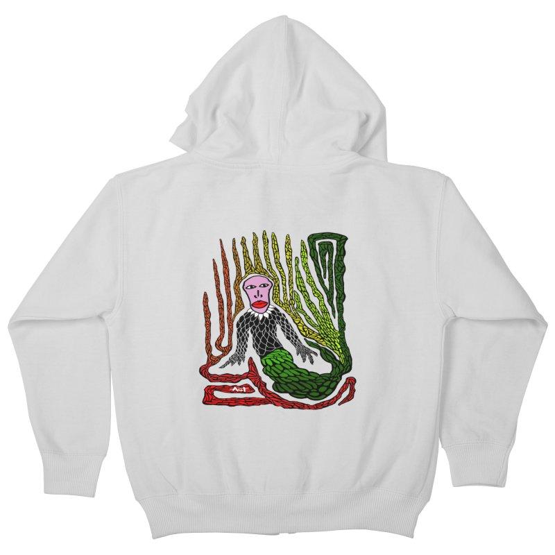 The Genius birdman Kids Zip-Up Hoody by antartant's Artist Shop