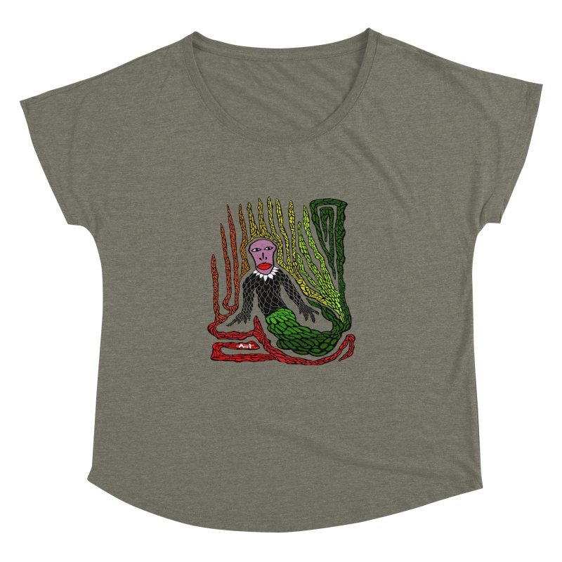 The Genius birdman Women's Dolman Scoop Neck by antartant's Artist Shop