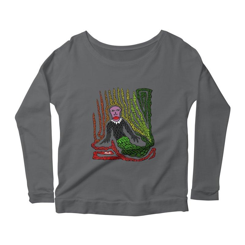 The Genius birdman Women's Scoop Neck Longsleeve T-Shirt by antartant's Artist Shop