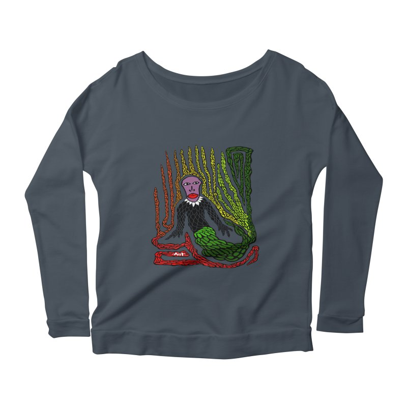 The Genius birdman Women's Longsleeve Scoopneck  by antartant's Artist Shop