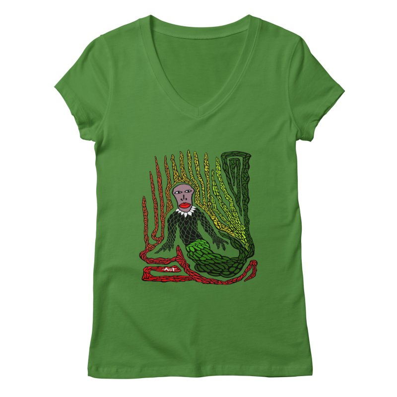 The Genius birdman Women's Regular V-Neck by antartant's Artist Shop