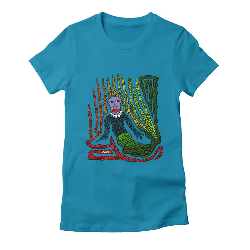 The Genius birdman Women's Fitted T-Shirt by antartant's Artist Shop