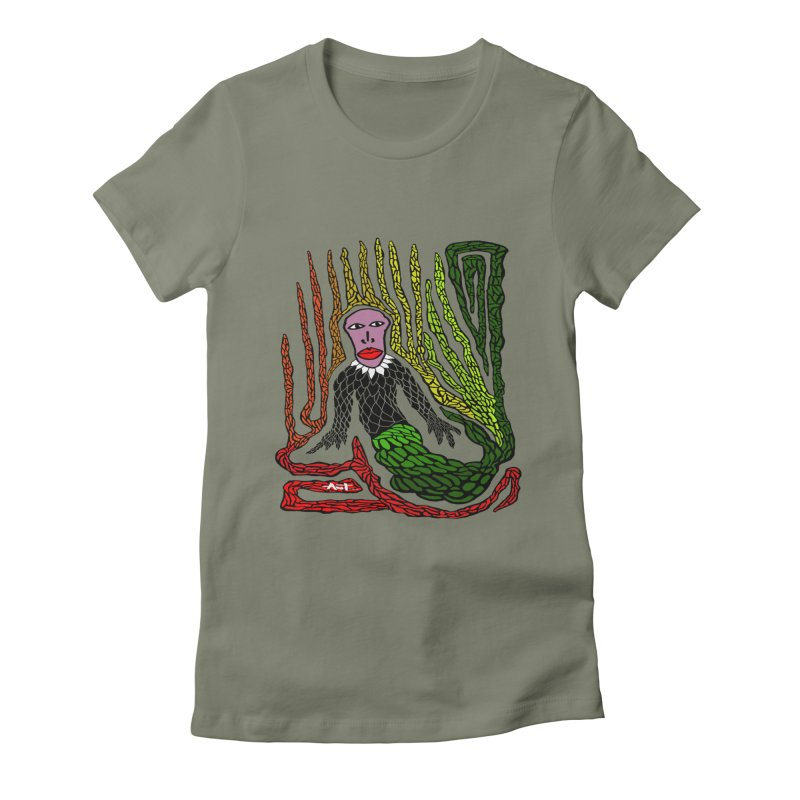 The Genius birdman Women's Fitted T-Shirt by antartant's Artist Shop