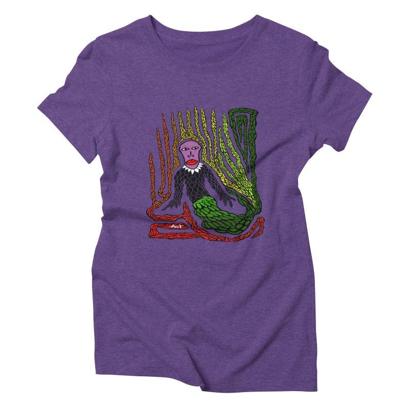 The Genius birdman Women's Triblend T-shirt by antartant's Artist Shop