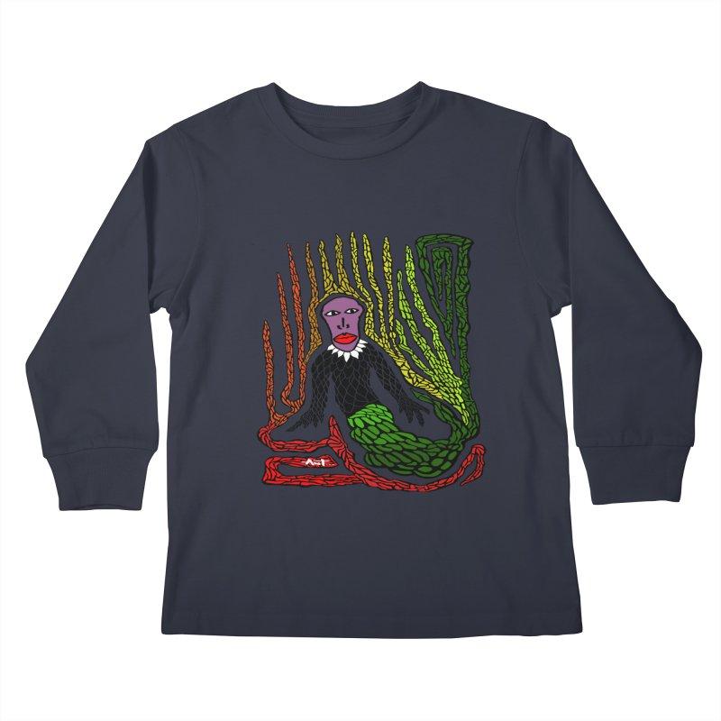 The Genius birdman Kids Longsleeve T-Shirt by antartant's Artist Shop