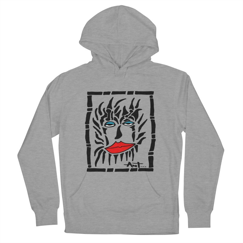 Lion Face Men's French Terry Pullover Hoody by antartant's Artist Shop