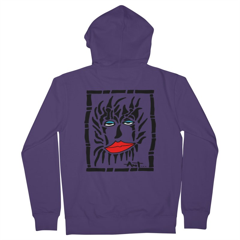 Lion Face Women's Zip-Up Hoody by antartant's Artist Shop