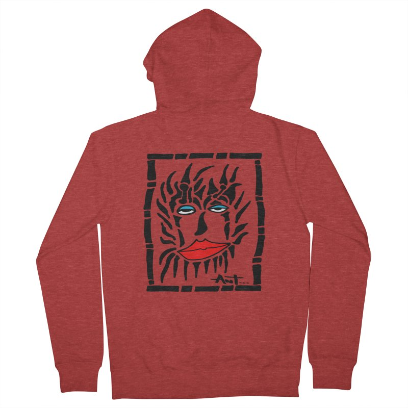 Lion Face Men's Zip-Up Hoody by antartant's Artist Shop