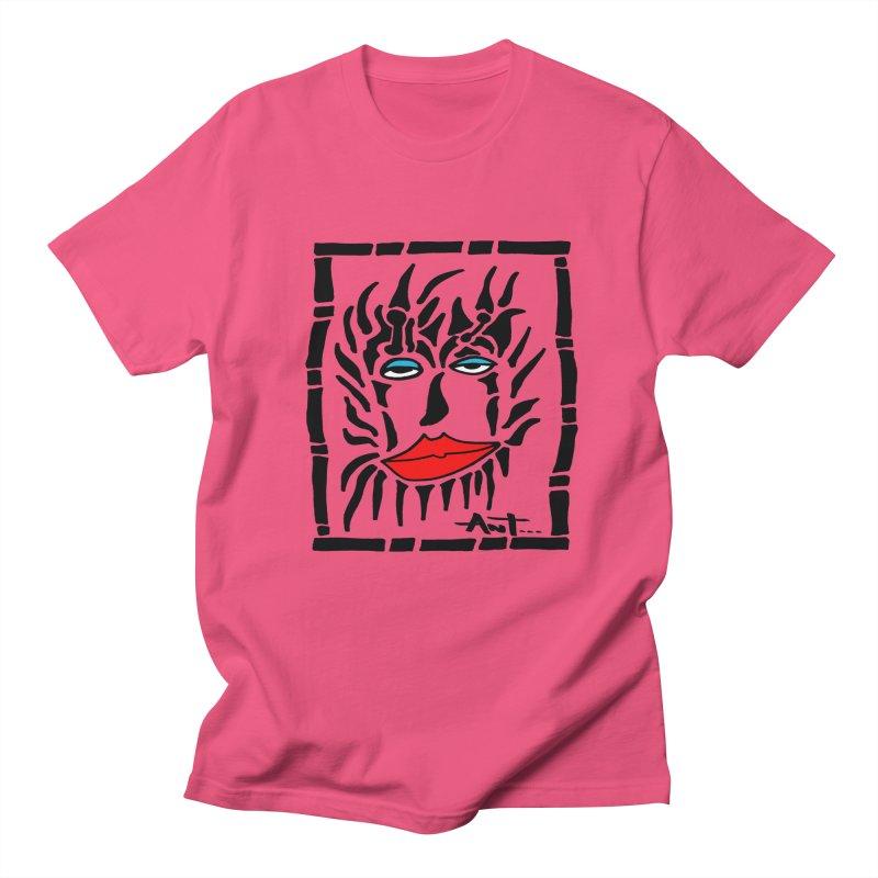 Lion Face Men's Regular T-Shirt by antartant's Artist Shop