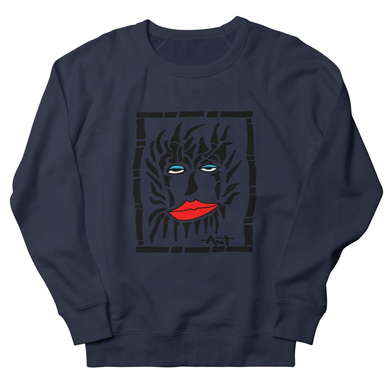 Lion Face Women's Sweatshirt by antartant's Artist Shop