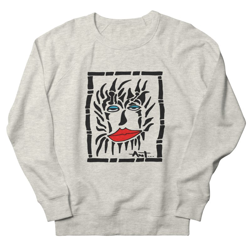 Lion Face Women's French Terry Sweatshirt by antartant's Artist Shop