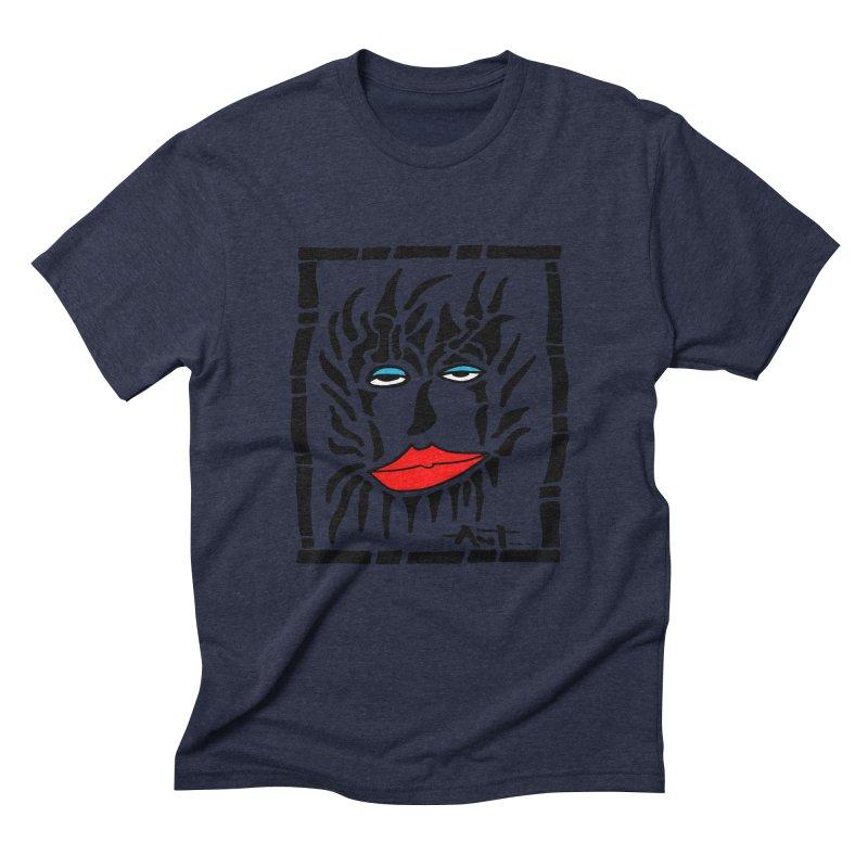 Lion Face Men's Triblend T-Shirt by antartant's Artist Shop