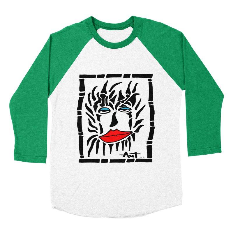 Lion Face Men's Baseball Triblend Longsleeve T-Shirt by antartant's Artist Shop