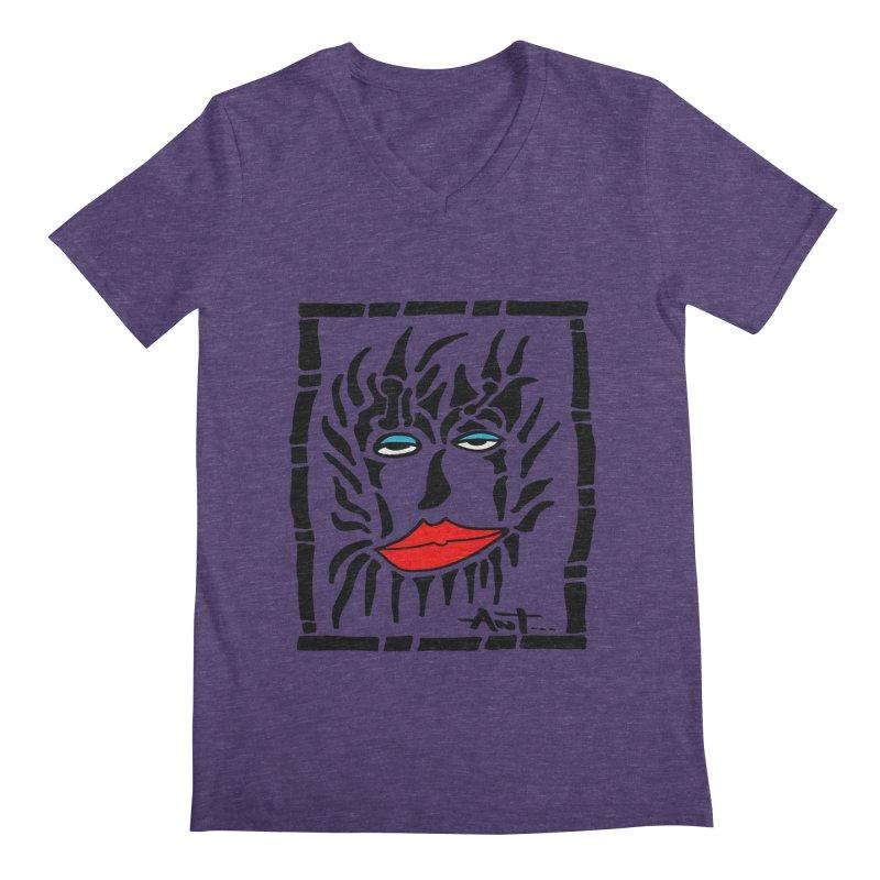 Lion Face Men's V-Neck by antartant's Artist Shop
