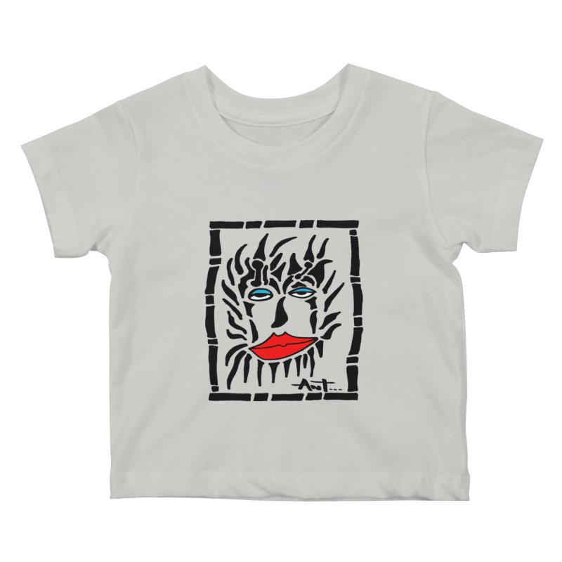 Lion Face Kids Baby T-Shirt by antartant's Artist Shop
