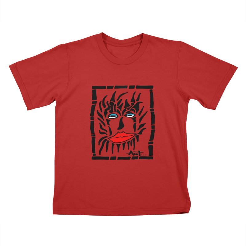 Lion Face Kids T-shirt by antartant's Artist Shop