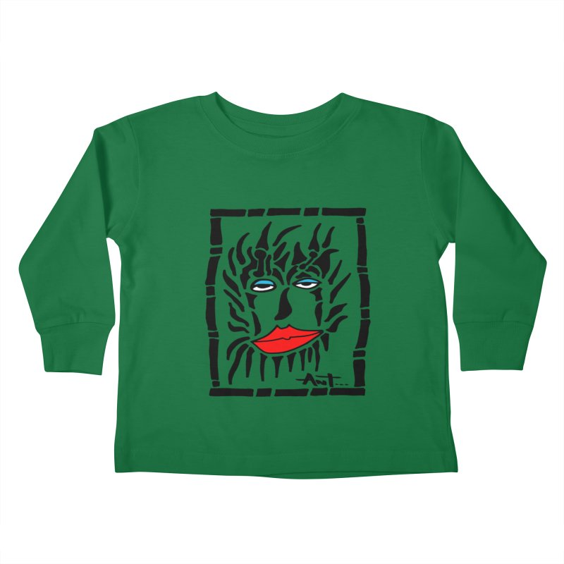 Lion Face Kids Toddler Longsleeve T-Shirt by antartant's Artist Shop