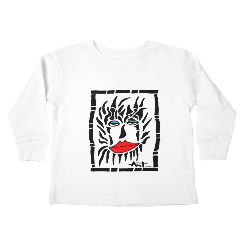 Lion Face Kids Toddler Longsleeve T-Shirt by antartant's Artist Shop