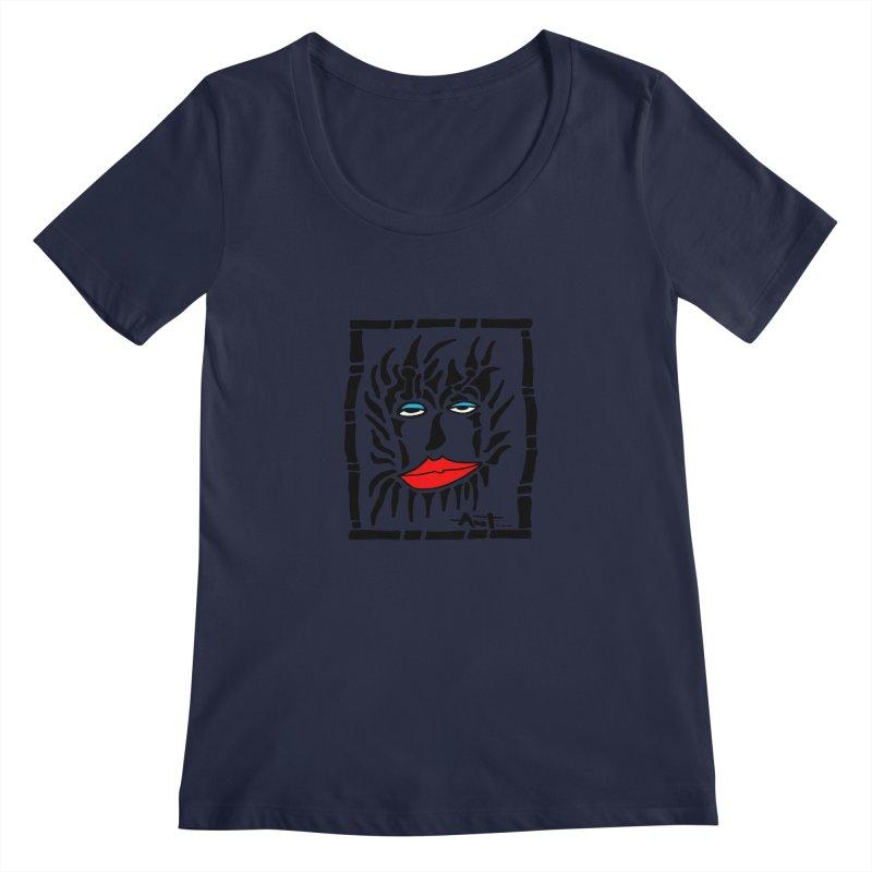 Lion Face Women's Scoopneck by antartant's Artist Shop