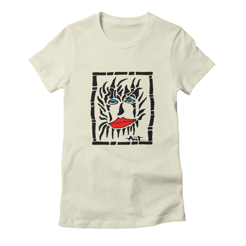Lion Face Women's Fitted T-Shirt by antartant's Artist Shop