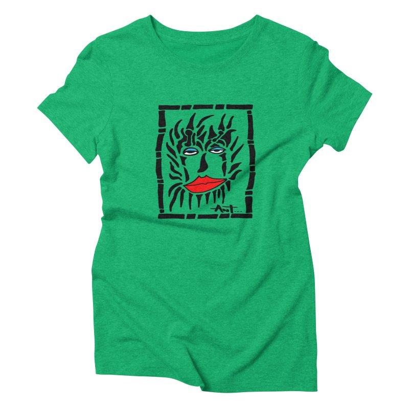 Lion Face Women's Triblend T-Shirt by antartant's Artist Shop