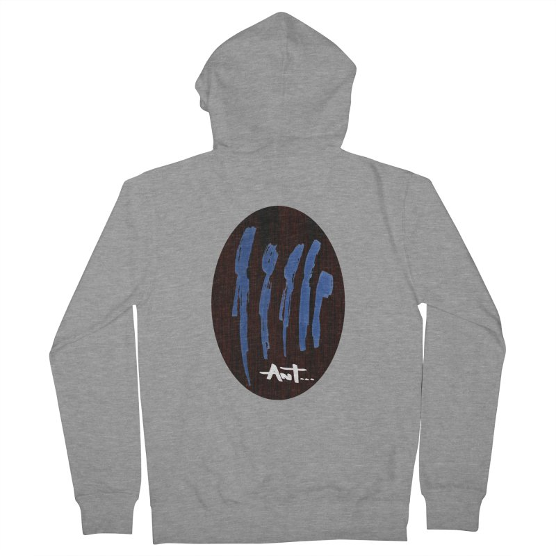 Peoples are abstract Wood Men's French Terry Zip-Up Hoody by antartant's Artist Shop