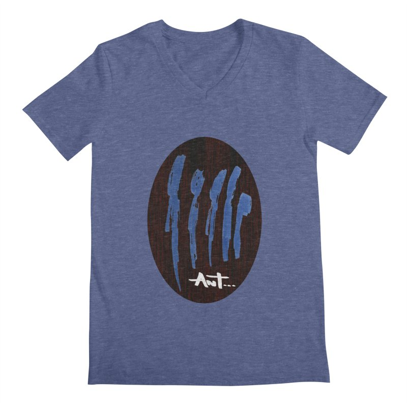 Peoples are abstract Wood Men's Regular V-Neck by antartant's Artist Shop