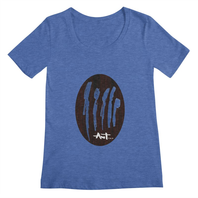Peoples are abstract Wood Women's Regular Scoop Neck by antartant's Artist Shop