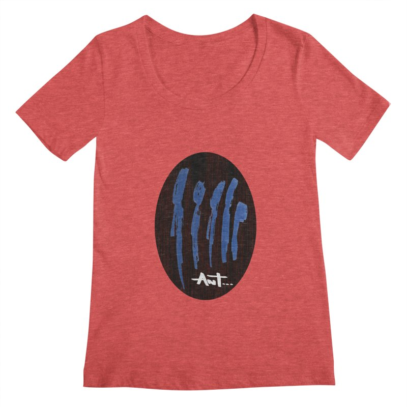 Peoples are abstract Wood Women's Scoopneck by antartant's Artist Shop