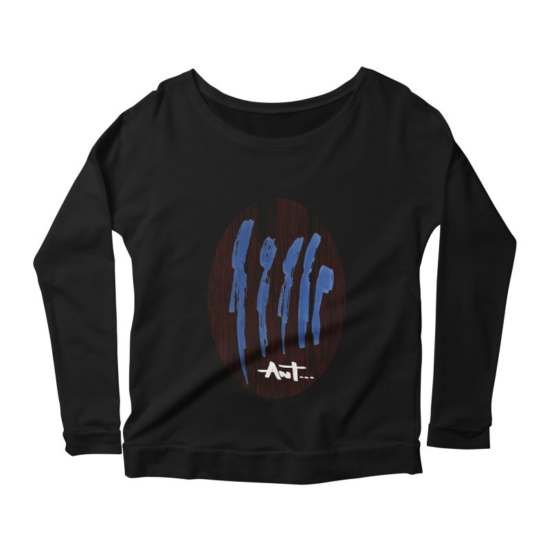 Peoples are abstract Wood Women's Scoop Neck Longsleeve T-Shirt by antartant's Artist Shop