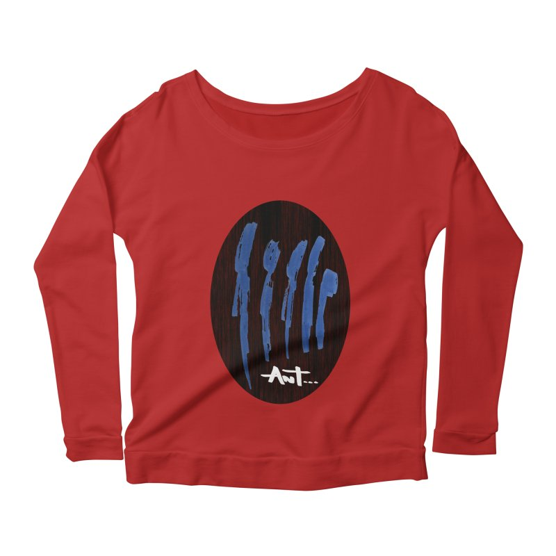 Peoples are abstract Wood Women's Longsleeve Scoopneck  by antartant's Artist Shop