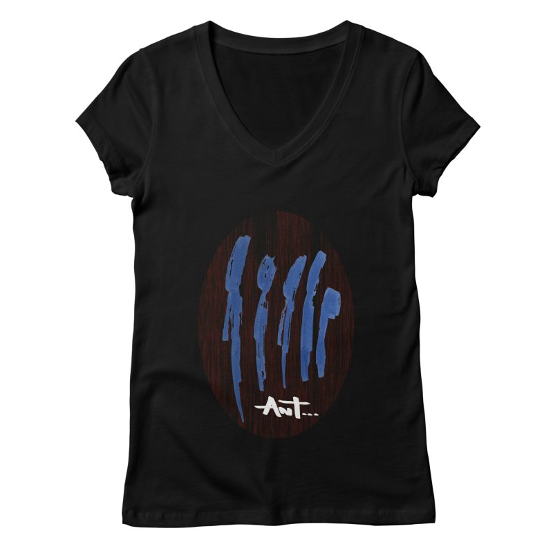 Peoples are abstract Wood Women's V-Neck by antartant's Artist Shop