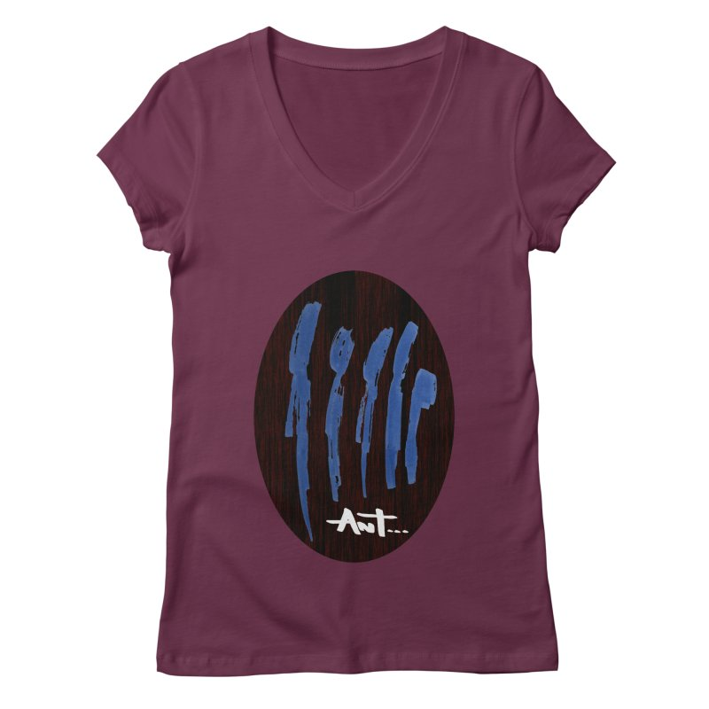 Peoples are abstract Wood Women's Regular V-Neck by antartant's Artist Shop