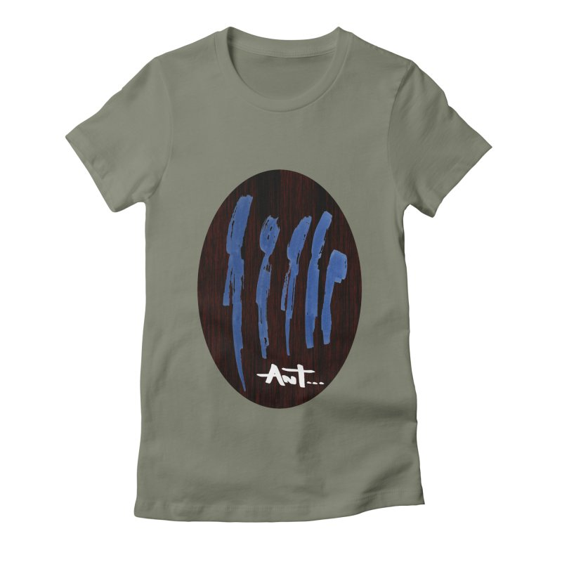 Peoples are abstract Wood Women's Fitted T-Shirt by antartant's Artist Shop