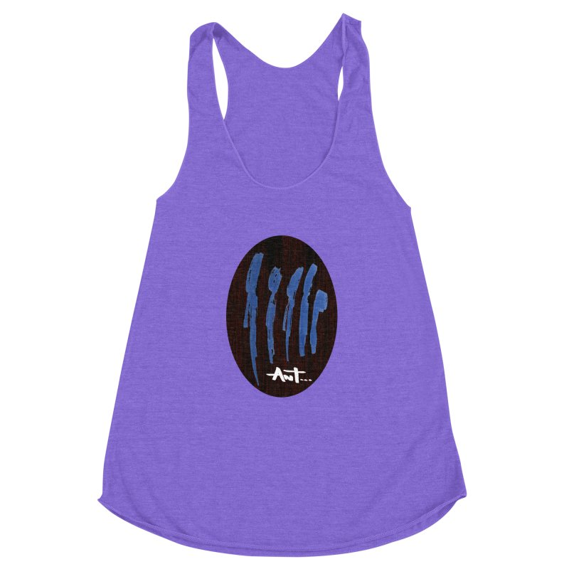 Peoples are abstract Wood Women's Racerback Triblend Tank by antartant's Artist Shop
