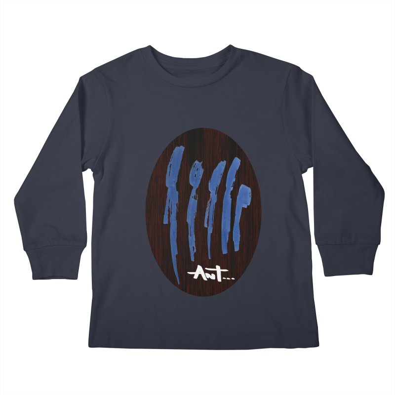 Peoples are abstract Wood Kids Longsleeve T-Shirt by antartant's Artist Shop