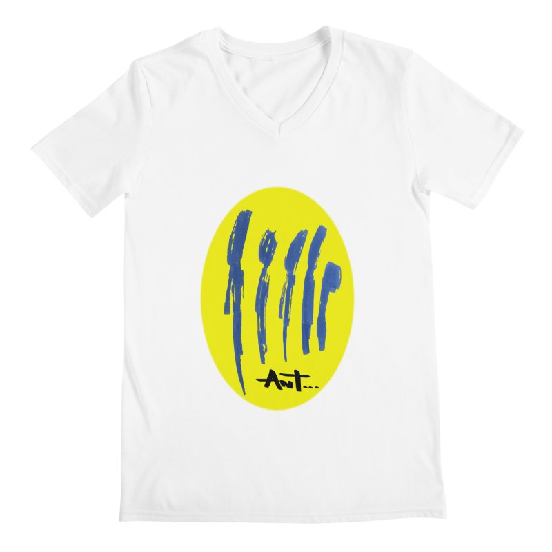 Peoples are abstract yellow Men's V-Neck by antartant's Artist Shop
