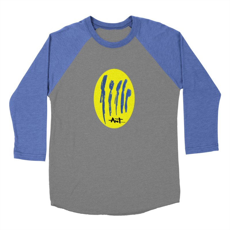 Peoples are abstract yellow Women's Baseball Triblend Longsleeve T-Shirt by antartant's Artist Shop