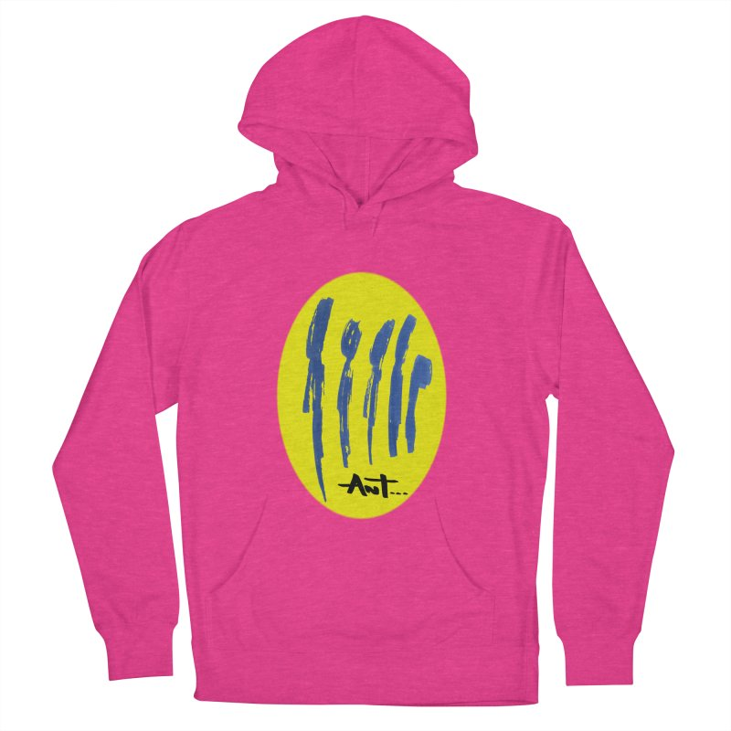 Peoples are abstract yellow Men's French Terry Pullover Hoody by antartant's Artist Shop
