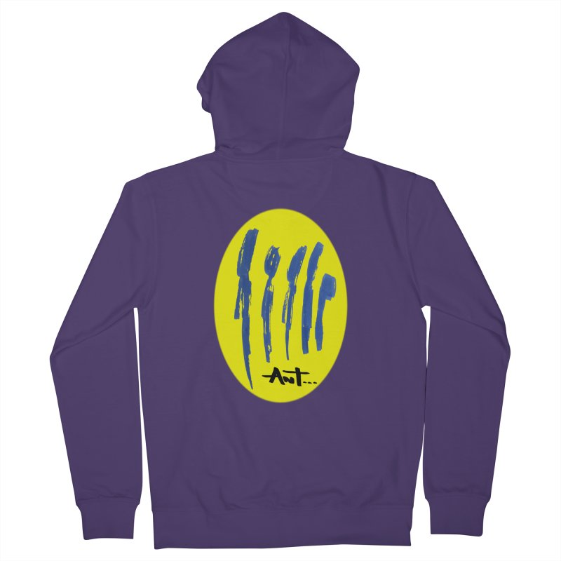 Peoples are abstract yellow Women's French Terry Zip-Up Hoody by antartant's Artist Shop