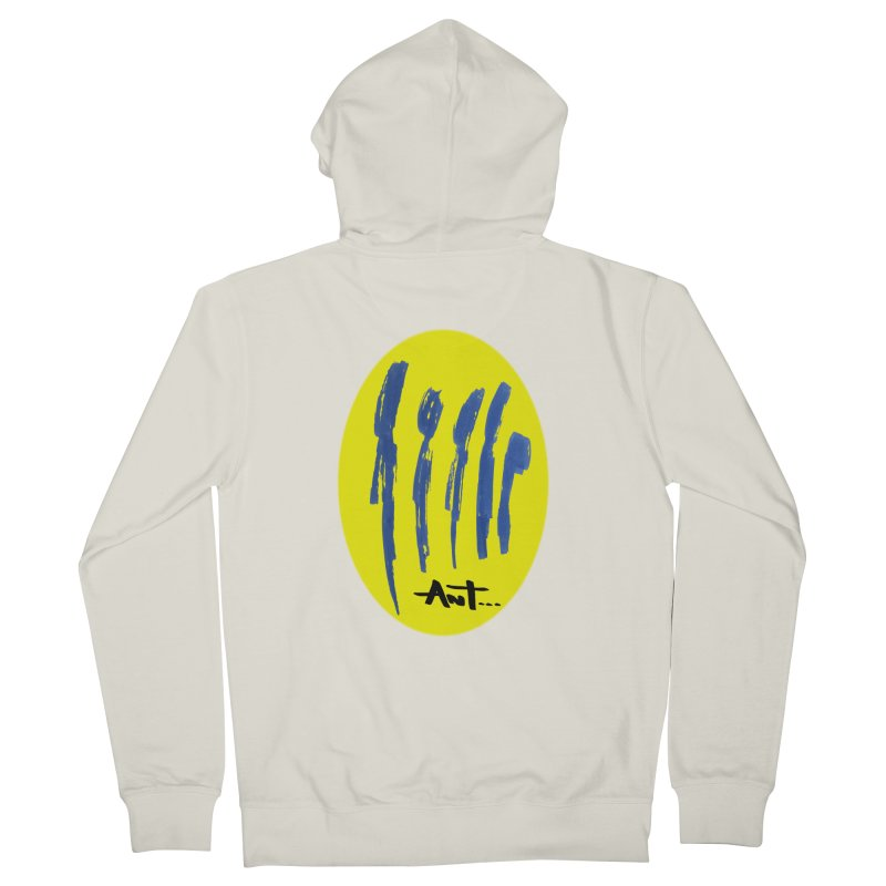 Peoples are abstract yellow Men's French Terry Zip-Up Hoody by antartant's Artist Shop