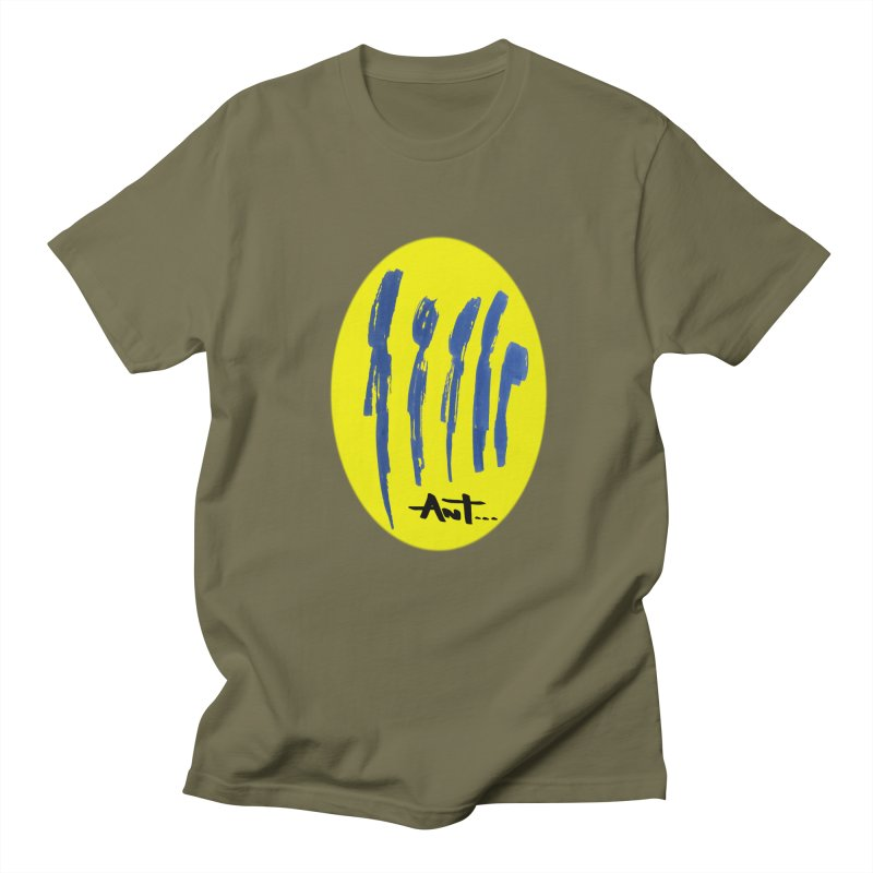 Peoples are abstract yellow Men's T-shirt by antartant's Artist Shop