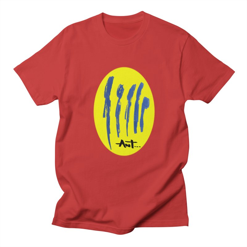 Peoples are abstract yellow Men's Regular T-Shirt by antartant's Artist Shop