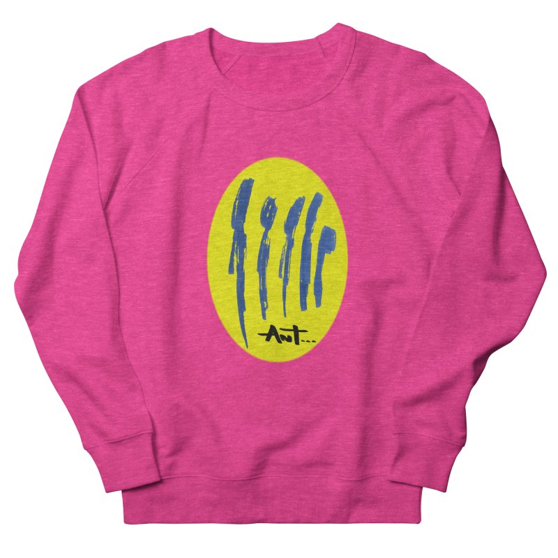 Peoples are abstract yellow Women's French Terry Sweatshirt by antartant's Artist Shop