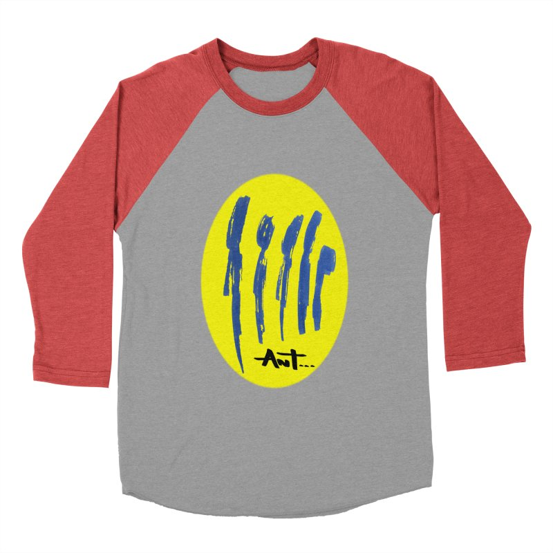 Peoples are abstract yellow Men's Baseball Triblend T-Shirt by antartant's Artist Shop