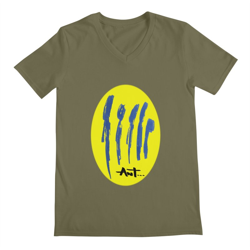 Peoples are abstract yellow Men's Regular V-Neck by antartant's Artist Shop