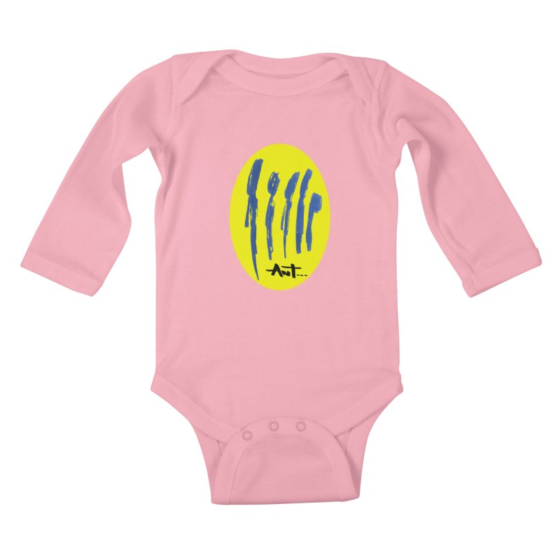 Peoples are abstract yellow Kids Baby Longsleeve Bodysuit by antartant's Artist Shop