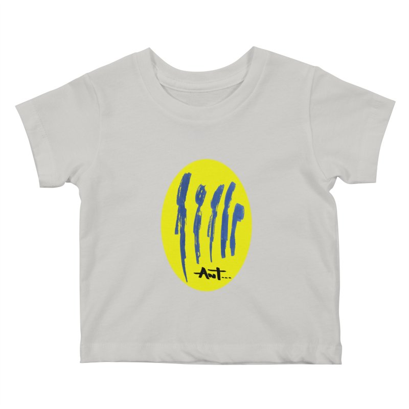 Peoples are abstract yellow Kids Baby T-Shirt by antartant's Artist Shop