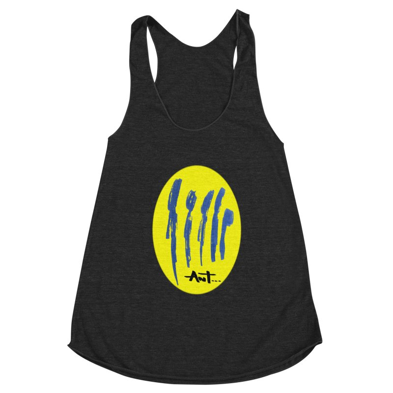 Peoples are abstract yellow Women's Racerback Triblend Tank by antartant's Artist Shop