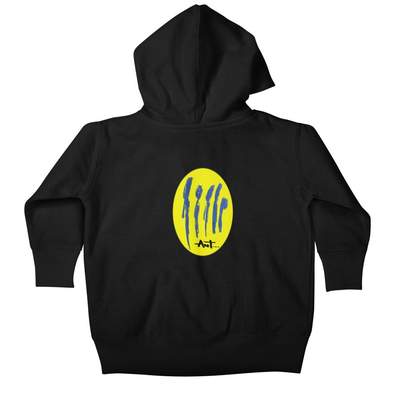 Peoples are abstract yellow Kids Baby Zip-Up Hoody by antartant's Artist Shop